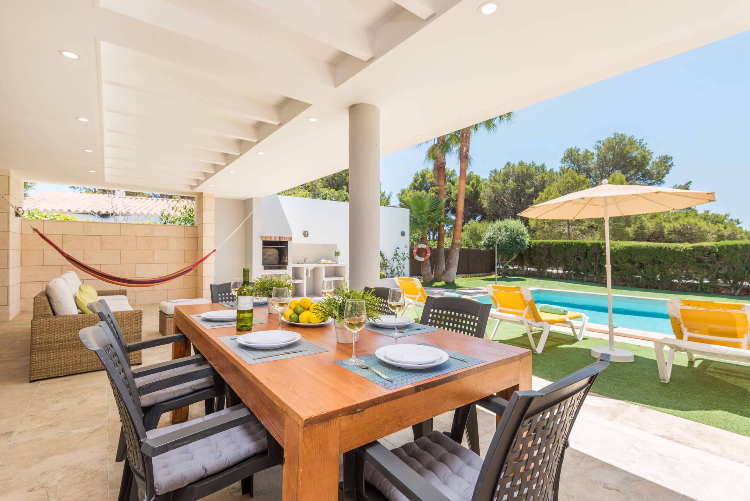 Binibeca | Contemporary style villa with distant sea views