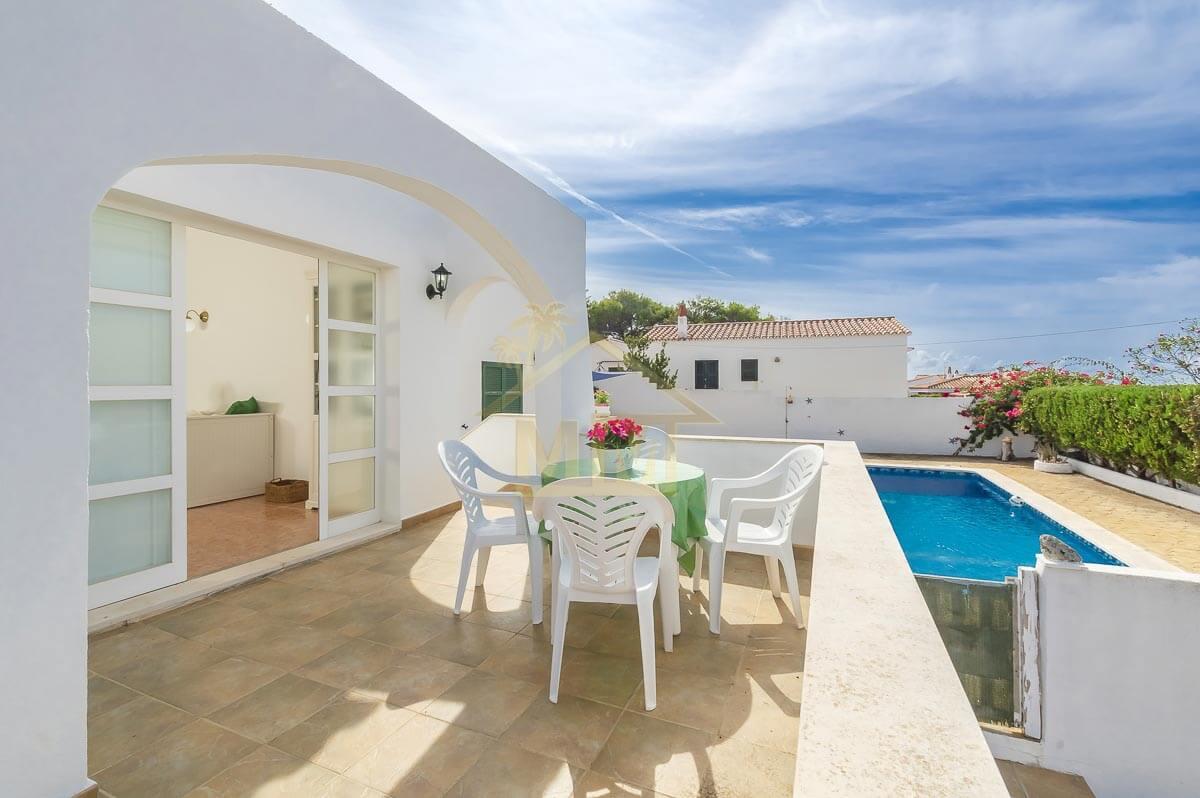 Calan Porter | Villa mitoyenne de 3 chambres à coucher avec piscine commune